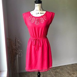 BeBop Red A Line Cut Out Dress Small